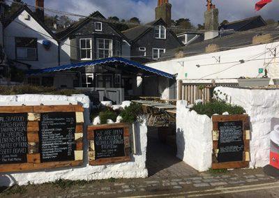 Beer Garden The Royal Standard Lyme Regis